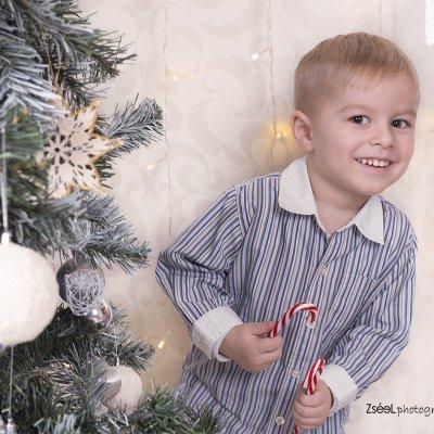 karácsonyi gyerek fotózás