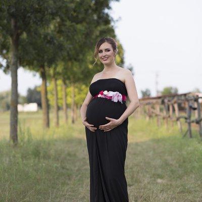 terhes fotózás tanyán