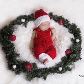 Karácsonyi újszülött fotózás